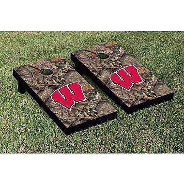 Victory Tailgate NCAA Mossy Oak Version Cornhole Game Set; Wisconsin Badgers