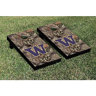 Victory Tailgate NCAA Mossy Oak Version Cornhole Game Set; Washington UW Huskies