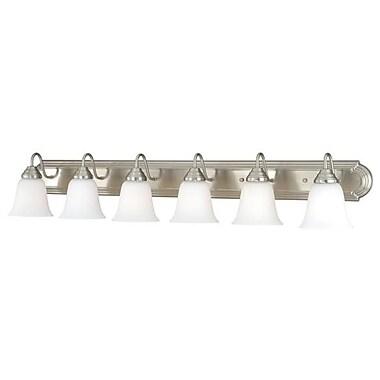 Vaxcel 708 Series 6-Light Vanity Light; Satin Nickel