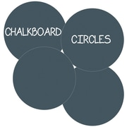 WallCandy Arts Circles Removable Chalkboard Wall Decal (Set of 4); Black