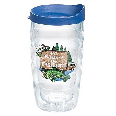 Tervis Tumbler Great Outdoors I'd Rather Be Fishing 10 Oz. Wavy Tumbler; Yes