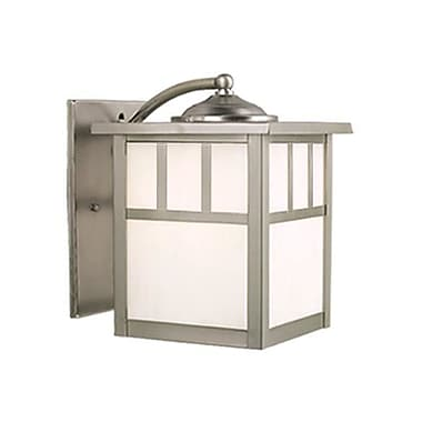 Vaxcel Mission 1-Light Outdoor Wall Lantern; Stainless Steel