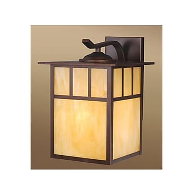 Vaxcel Mission 1-Light Outdoor Wall Lantern; Burnished Bronze