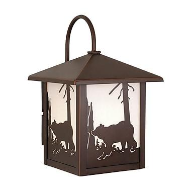 Vaxcel Yellowstone 1-Light Outdoor Wall Lantern; 8''