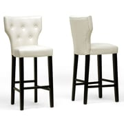 Wholesale Interiors Baxton Studio Billings 30'' Bar Stool with Cushion (Set of 2); Beige