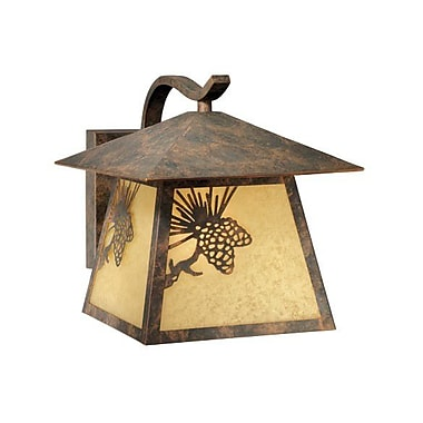 Vaxcel Yellowstone 1-Light Outdoor Wall Lantern; Large