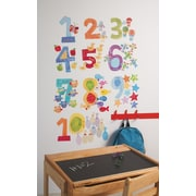 Wallies Peel and Stick Counting Numbers Wall Decal