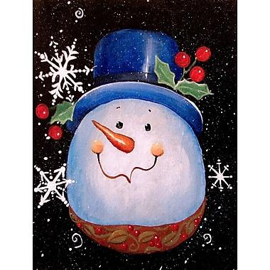 Caroline's Treasures Top Hat Greetings Snowman 2-Sided Garden Flag