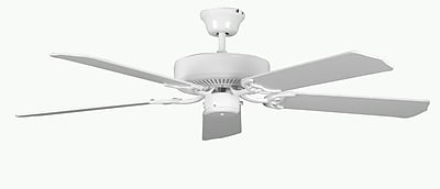 Concord Fans 52'' Heritage 5-Blade Fan; White with White Blades