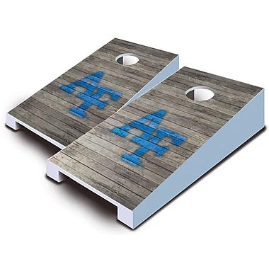 AJJCornhole NCAA 10 Piece Distressed Tabletop Cornhole Set; Western Carolina Catamounts