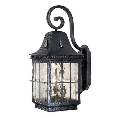 Vaxcel Edinburgh Outdoor Wall Lantern; Medium / Textured Black