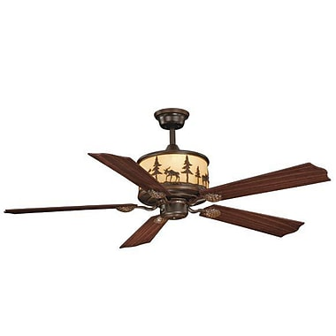 Vaxcel Yellowstone 5-Blade Fan; Burnished Bronze