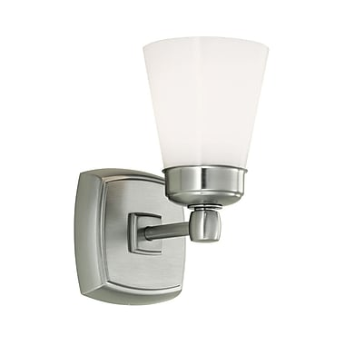 Norwell Lighting Soft Square 1-Light Wall Sconce; Brushed Nickel