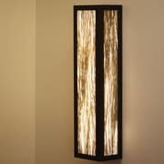 WPT Design V-II 2-Light Rectangle Wall Sconce; Thatch