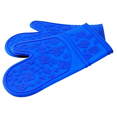 LCM Home Fashions, Inc. Kitchen Cooking Oven Mitt; Blue