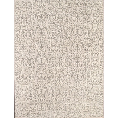 Pasargad Transitiona Hand-Knotted Light Gray Area Rug