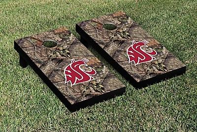 Victory Tailgate NCAA Mossy Oak Version Cornhole Game Set; Washington State WSU Cougars WYF078278336328