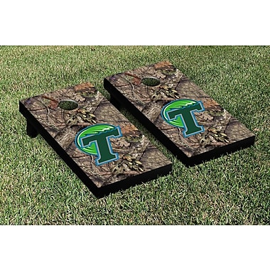 Victory Tailgate NCAA Mossy Oak Version Cornhole Game Set; Tulane Green Wave
