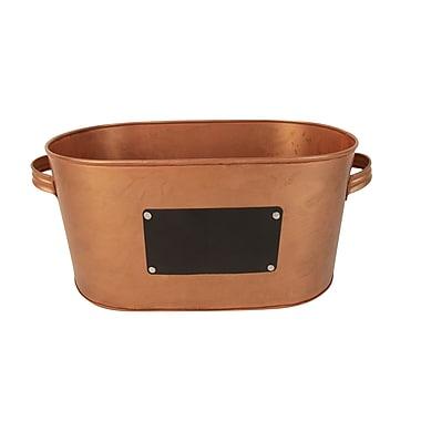 Craft Outlet Bucket w/ Chalk Board; Copper