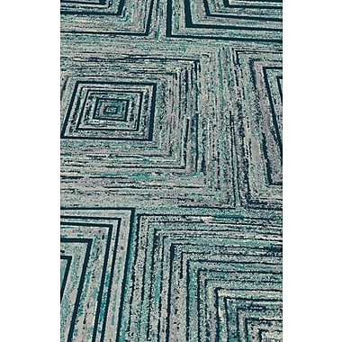 Rug Factory Plus Fusion Yellow/Silver Indoor/Outdoor Area Rug; 5' x 8'
