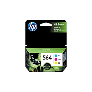 HP 564 Cyan, Magenta & Yellow Original Ink Cartridges, 3/Pack (N9H57FN)