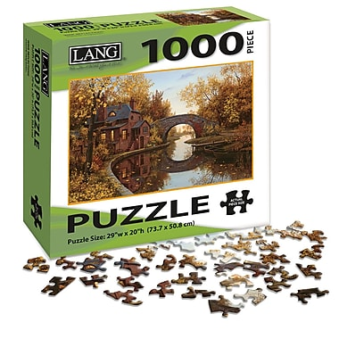 LANG House By The River Jigsaw Puzzle, 1000 Pieces, (5038016)