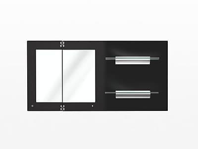 Argo Furniture Vittoria Wall Mirror; Glossy Dark Gray