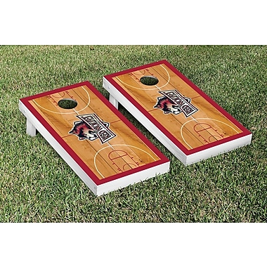 Victory Tailgate NCAA Border Basketball Version Cornhole Game Set; Indiana East Red Wolves