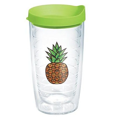 Tervis Tumbler Eat Drink Be Merry Pineapple Expression Plastic Travel Tumbler; 16 oz.