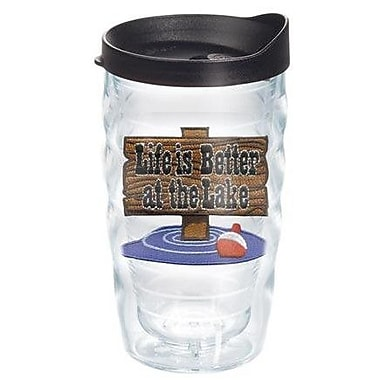Tervis Tumbler On The Water Life is Better At The Lake 10 Oz. Wavy Tumbler; Yes