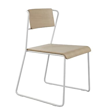 m.a.d. Furniture Transit Side Chair; White / Natural Ash