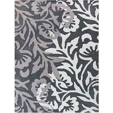 AMER Rugs Bombay Hand-Tufted Black/Gray Area Rug; Rectangle 8' x 11'
