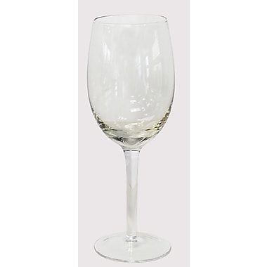 Euro Ceramica White Wine Glass Set (Set of 4); Amber