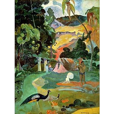 Wallhogs Gauguin Matamoe (1892) Wall Mural; 36'' H x 27'' W