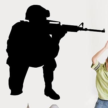 Wallhogs Haynes Military Soldier I Silhouette Cutout Wall Decal; 34'' H x 36'' W