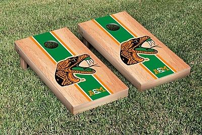 Victory Tailgate Stripe Hardcourt Version Cornhole Game Set; Florida A&M University Rattlers
