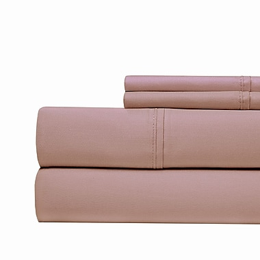 Aspire Linens 4 Piece 1000 Thread Count Sheet Set; Plum