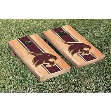 Victory Tailgate Stripe Hardcourt Version Cornhole Game Set; Texas State University Bobcats