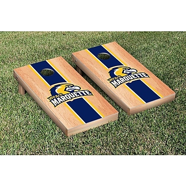 Victory Tailgate Stripe Hardcourt Version Cornhole Game Set; Marquette Golden Eagles