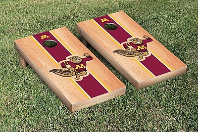Victory Tailgate Stripe Hardcourt Version Cornhole Game Set; Minnesota Golden Gophers