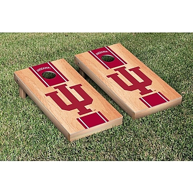 Victory Tailgate Stripe Hardcourt Version Cornhole Game Set; Indiana IU Hoosiers