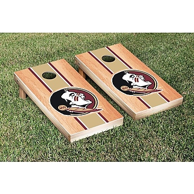 Victory Tailgate Stripe Hardcourt Version Cornhole Game Set; Florida State FSU Seminoles