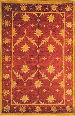 sweet home stores Sweet Home Trellis Red Area Rug; 3' W x 5' L