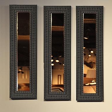 Rayne Mirrors Molly Dawn American Made Dark Embellished Mirror Panel; 35.5'' H x 9.5'' W x 1.25'' D