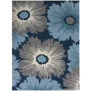 AMER Rugs Piazza Navy Indoor/Outdoor Area Rug; Rectangle 4' x 6'