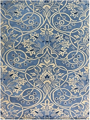 AMER Rugs Bombay Hand-Tufted Blue Area Rug; 7'6'' x 9'6''