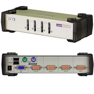 Aten® CS84U 4 Port PS/2 USB Desktop KVM Switch
