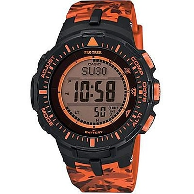 Casio® Pro Trek Solar Powered Digital Smart Watch, Orange (PRG300CM-4)
