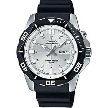 Casio® 3 Hand Super Illuminator Analog Sports Watch, White (MTD1080-7AV)
