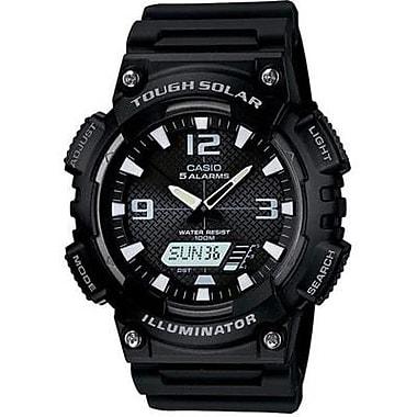 Casio® Self Charging Solar Powered Analog/Digital Sports Watch, Black (AQS810W-1AV)